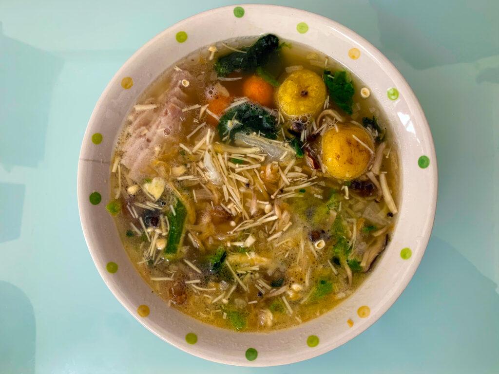 解凍後のスープ